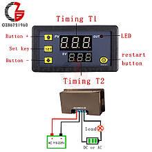 Таймер цифровой, цифровая индикация времени задержки, циклический режим. 220В 10A 1500W питание 220V