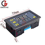 Таймер цифровой, цифровая индикация времени задержки, циклический режим. 220В 10A 1500W питание 220V, фото 4