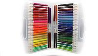 TC81190-48 Набор кисть - фломастеры  48 цветов, трехгранные с грипом в  пластиковом чемодане