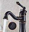 Смеситель для раковины (умывальника) REA VINTAGE OLD BLACK черный низкий, фото 3