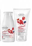"""Набор """"Нежный"""" йогуртовый м лесными ягодами, скраб+лосьон для тела Avon Naturals"""