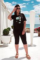 """Женская футболка с хлопка в принт """"Monday's"""" (48-64), фото 1"""