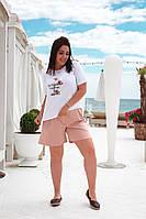 Женские шорты с трикотажа свободного покроя (42-48), фото 1