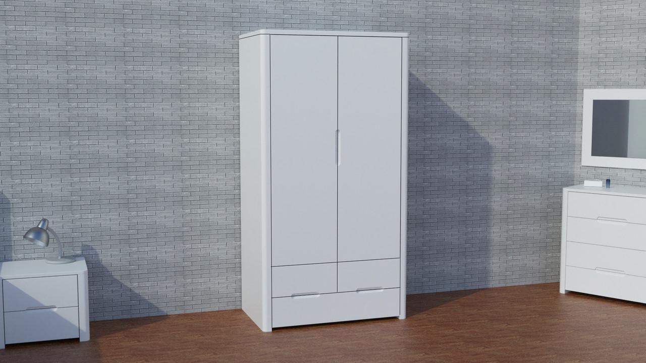 """Деревянный белый шкаф """"Орео"""" из натурального дерева"""