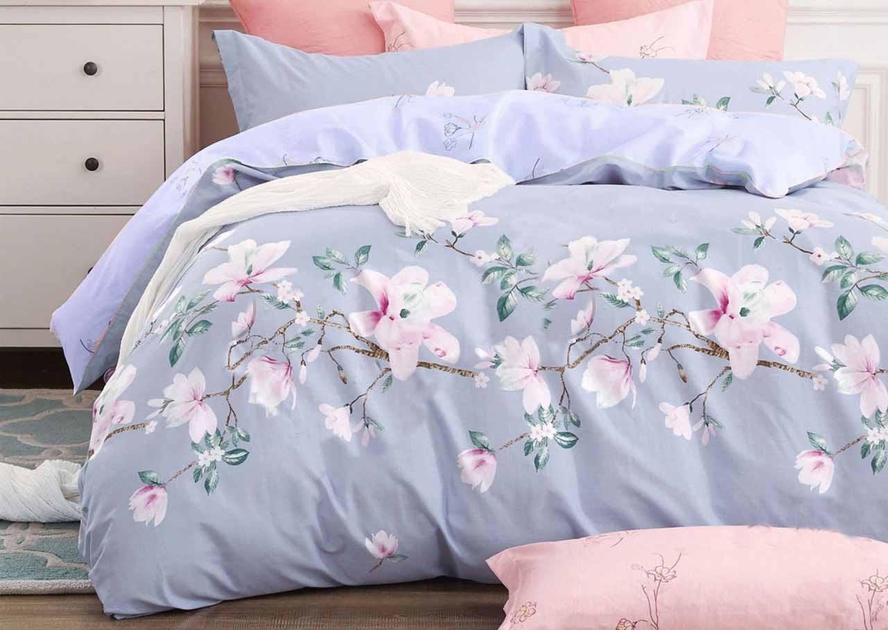 Комплект красивого и качественного постельного белья, размер євро, цветочек