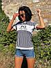 Женская футболка с вискозы морячка (см-мл)