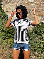 Женская футболка с вискозы морячка (см-мл), фото 1