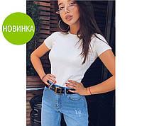 Женская классическая трикотажная футболка(42-48), фото 1