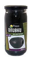 Оливки Домашні продукти 380г чорні без кісточки