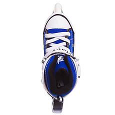 Роликовые коньки раздвижные ZELART синие Z-823B, фото 3