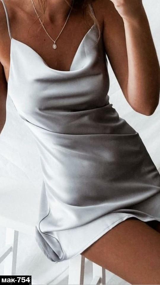 Женское вечернее платье в бельевом стиле на брительках