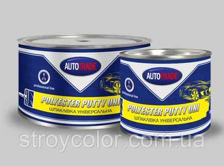 Шпатлевка полиэфирная универсальная AutoTrade UNI 2K 1,8 кг (Автомобильная шпаклевка,Автотрейд)