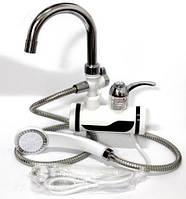 Кран бойлер, Проточный водонагреватель с душем Delimano/ Боковое подключение