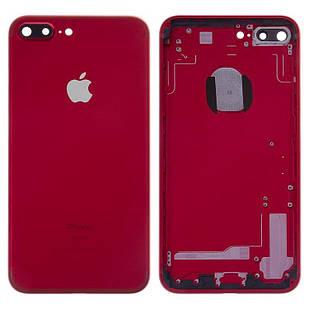 Корпус для iPhone 7 Plus, с держателем SIM-карты, с боковыми кнопками, красный