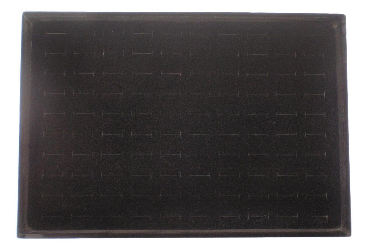 """Подставка под кольца """"Планшет 10 Рядов 100 отдельных ячеек"""" черная  3х35х24 см"""
