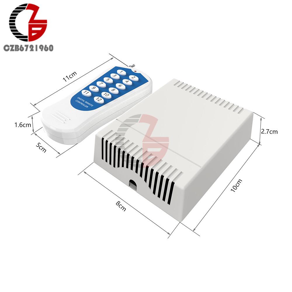 12 V 12 канальный релейный модуль Беспроводной RF пульт дистанционного управления передатчик + приемник