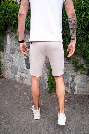 Мужские шорты Pobedov Frame бежевые, фото 2