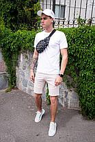 Мужские шорты Pobedov Frame бежевые, фото 3