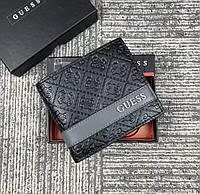 Мужское кожаное портмоне Guess (6001) подарочная упаковка