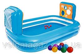 Детский надувной игровой бассейн с мишенью и шариками,  237*152*94 см, Bestway 54170