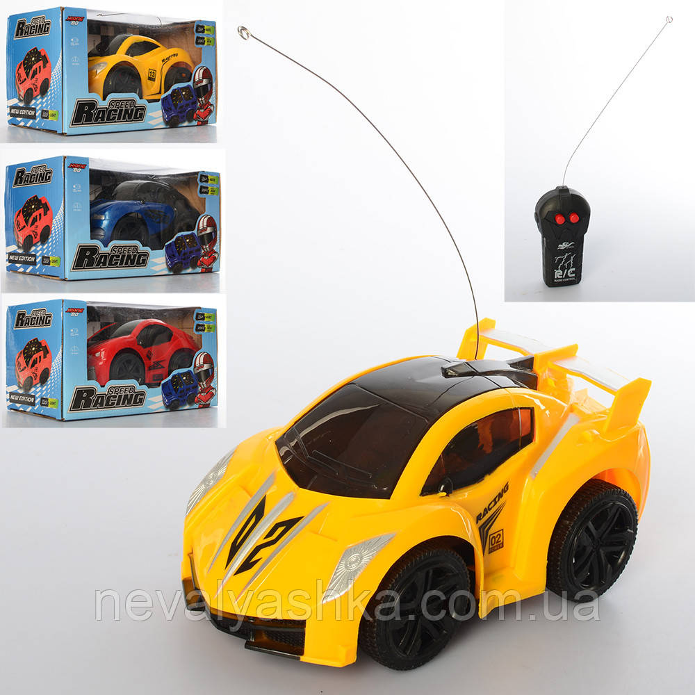 Машина на радиоуправлении 15см, свет, 4 вида, на батарейке, на пульте управления, р/у, RE210-3-4B-1-2C 012342