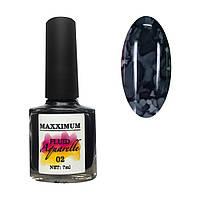 Акварельный флюид  №002 черный 7мл MAXXIMUM