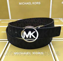 Женский кожаный ремень в подарочной упаковке MK (8001)