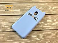 Резиновый 3D чехол CAT для Meizu M5 Note Голубой