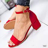 Босоножки на низком каблуке, фото 3