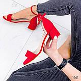 Босоножки на низком каблуке, фото 2
