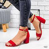 Босоножки на низком каблуке, фото 6