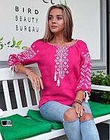 """Вишита блуза жіноча лляна """"Колоскова"""", фото 1"""