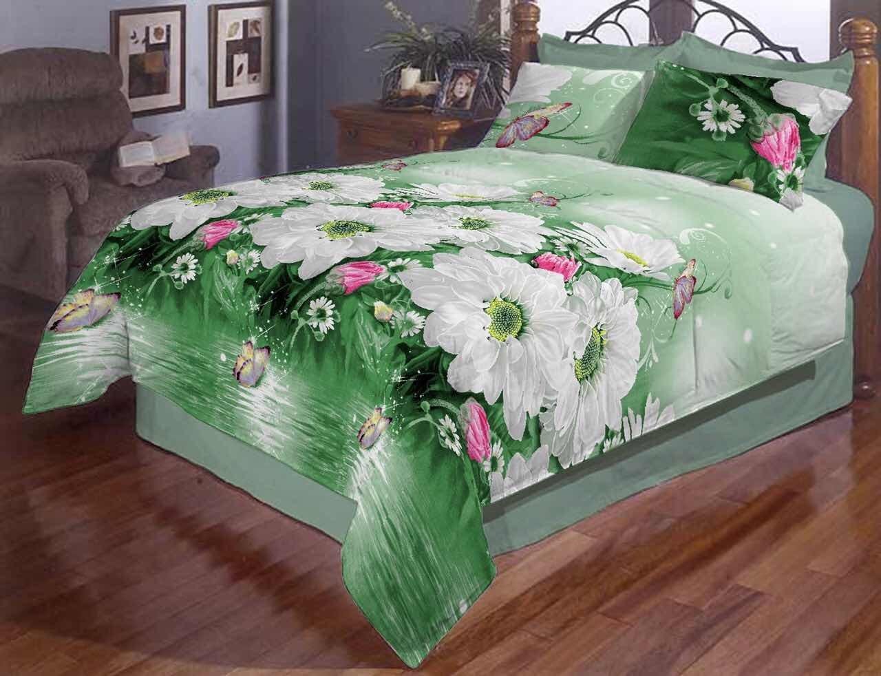 Красивое постельное белье полуторка, ромашки