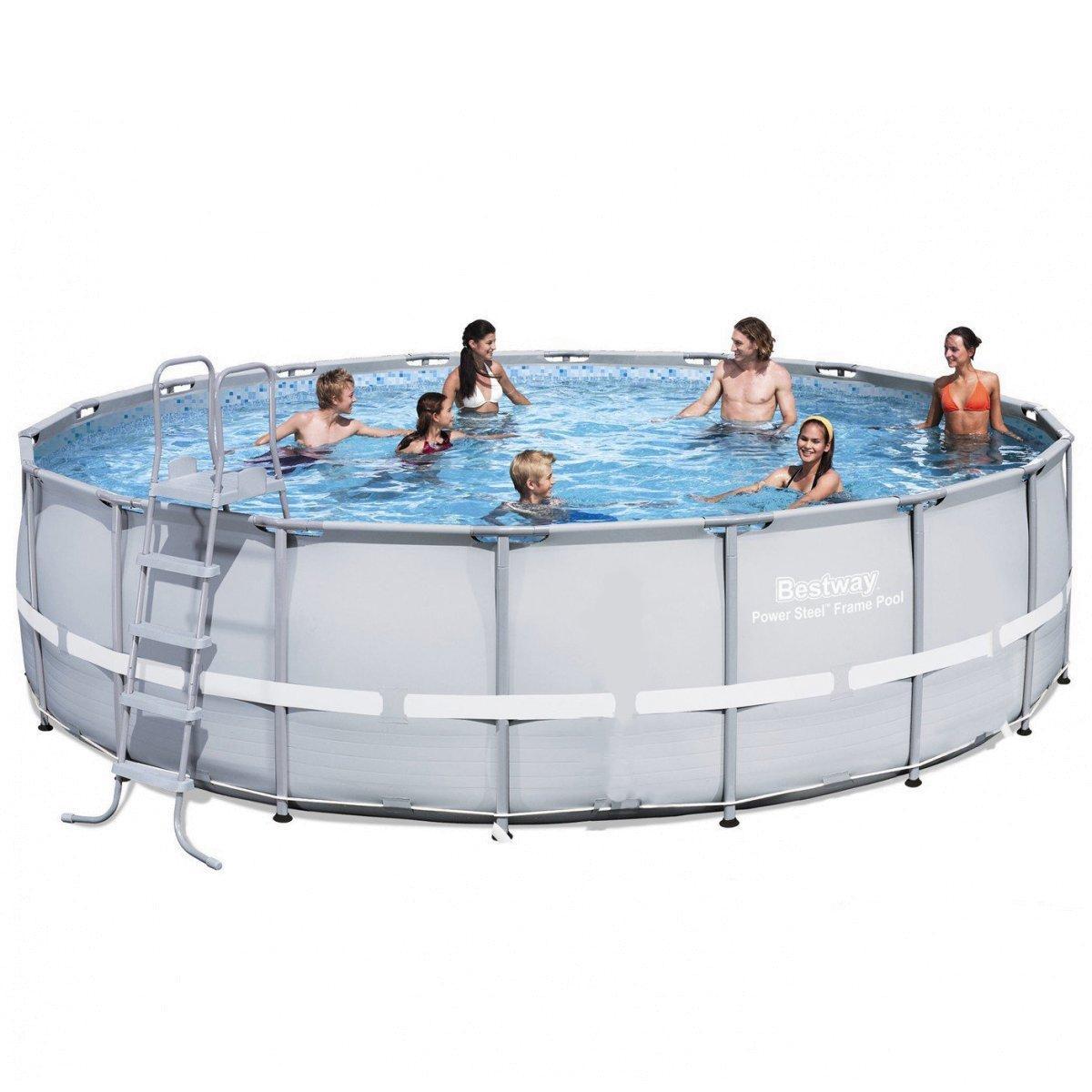 Каркасный бассейн Bestway 56705 - 1, 671 х 132 см (лестница, подстилка, тент)