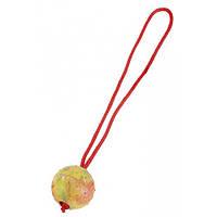 Резиновый мяч Sprenger с ручкой для собак, 7.5 см