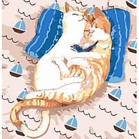"Картина по номерам, ""Коты Ля-Мур"" 30*30см KHO4164"