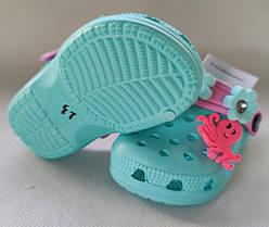 Детские сабо кроксы бирюзовые для девочки Jose Amorales 26р 17,5см, фото 3
