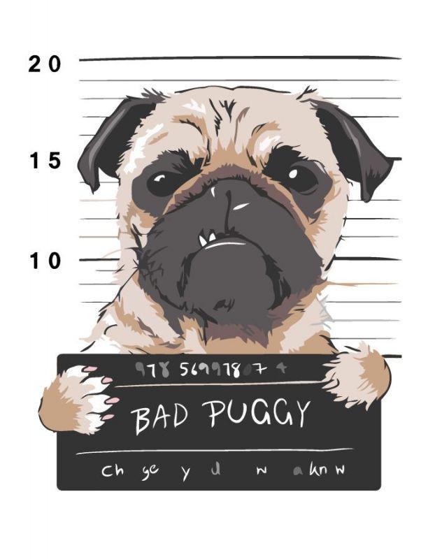 """Картина за номерами, Rosa """"Bad Puggy"""" 35х45см N00013215"""