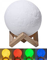 Настольный светильник Magic 3D Moon Light Rgb Луна 12,5 см пульт (3541)