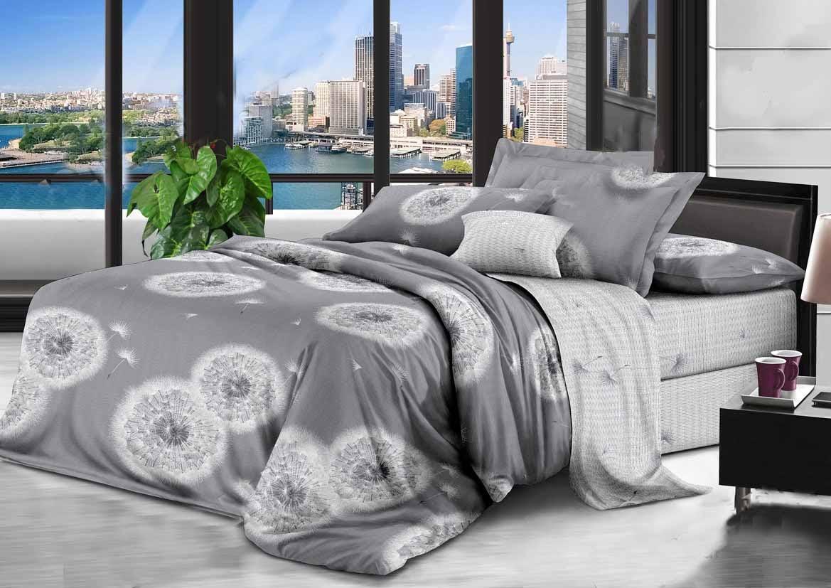 Красивое и качественное постельное белье, євро, одуванчики