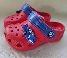 Детские сабо кроксы для мальчика красные тачки Jose Amorales 23р 13,5см, фото 3