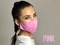 Защитная маска для лица розового цвета