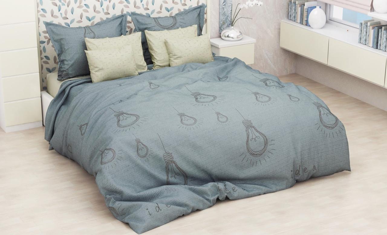 Красивое и качественное постельное белье, євро, лампочки