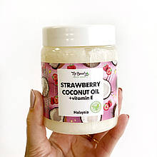 """Ароматизоване кокосове масло для волосся і тіла """"Полуниця"""" Top Beauty 250 мл"""