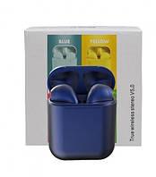 Беспроводные Bluetooth наушники i12 Inpods 5.0 с кейсом Синие
