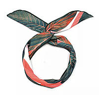 Повязка на голову солоха (зеленая с красным).