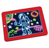 Детский планшет для рисования Magic Pad 3D, планшет рисуй светом, фото 2