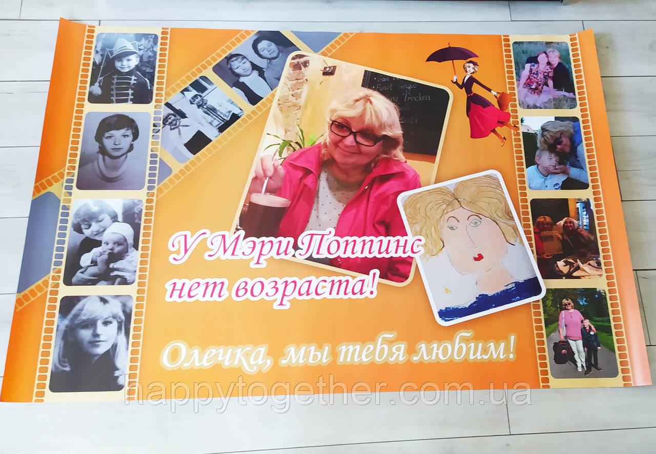 Плакат на день народження 1000х1500 см