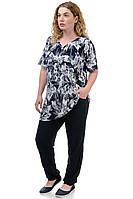 Женский летний костюм футболка брюки «Лилия», фото 1