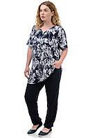 Женский летний костюм футболка брюки «Лилия»